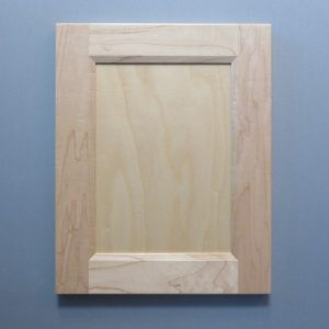 Maple, 3/8 Flat Panel, Bevel Shaker Inside Profile, Natural