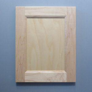 Maple, 3/8 Flat Panel, Bevel Shaker Inside Profile, Natural