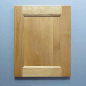 Clear Alder, Solid Reversed Flat Panel, Bevel Shaker Inside Profile, Natural