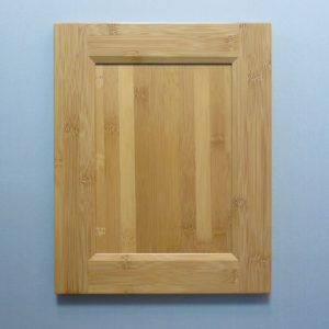Bamboo, Solid Reversed Raised Flat Panel, Bevel Shaker Inside Profile, Natural