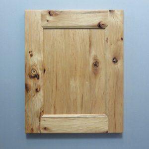 Rustic Hickory, Solid Reversed Raised Flat Panel, Bevel Shaker Inside Profile, Natural