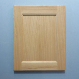 Beech, Solid Reversed Raised Flat Panel, Bevel Shaker Inside Profile, Natural