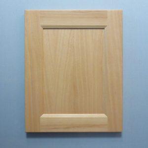 Beech, Solid Reversed Raised Flat Panel, Bevel Shaker Inside Profile, Natural