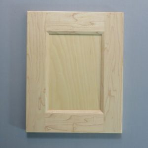 Maple, 3/8 Flat Panel, Bevel Shaker Inside Profile, Natural, 2-3/4 Inch Wide Stiles and Rails
