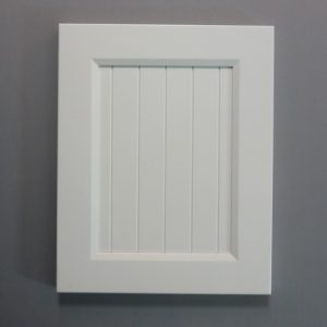 Solid Maple Stiles And Rails, 3/8 Fluted MDF Panel, Bevel Shaker Inside Profile, White Paint