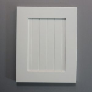 Solid Maple Stiles And Rails, 3/8 Fluted MDF Panel, Shaker Inside Profile, White Paint