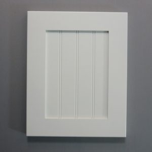 Solid Maple Stiles And Rails, 3/8 Double Fluted MDF Panel, Shaker Inside Profile, White Paint