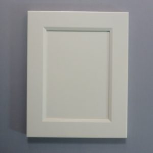 Solid Maple Stiles And Rails, 3/8 MDF Flat Panel, Bevel Shaker Inside Profile, Ballet White Paint