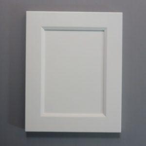 Solid Maple Stiles And Rails, 3/8 MDF Flat Panel, Bevel Shaker Inside Profile, White Paint