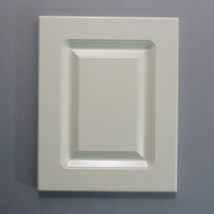 Routered MDF Door In Ballet White