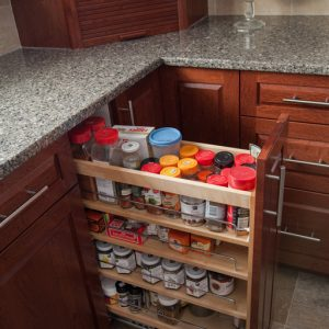 Spice rack pullout. Store all those spices in a convenient pull out spice rack and say goodbye to bland food!
