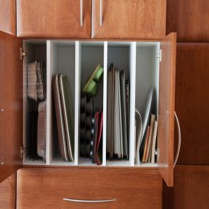 Tray dividers. Perfect for storing muffin tins, oven pans and many other things
