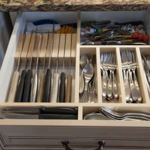 Custom cutlery tray. We can make these in any configuration you desire.