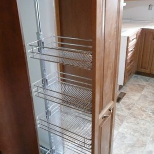 Wire rack pantry pullout.